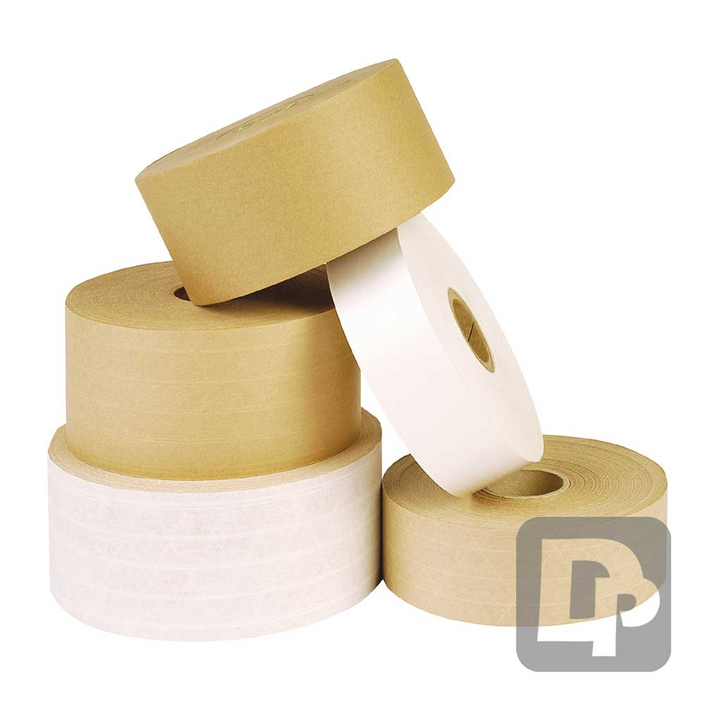 Brown 70mm x 200m GSI Gummed Paper Tape