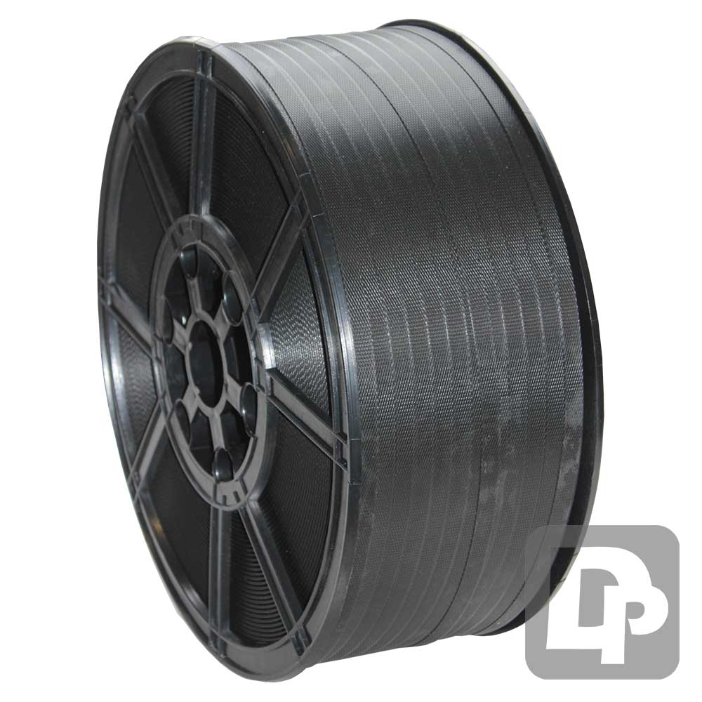 Heavy Duty 12mm x 0.9mm x 1000m Polyprop Strapping on Plastic Reel