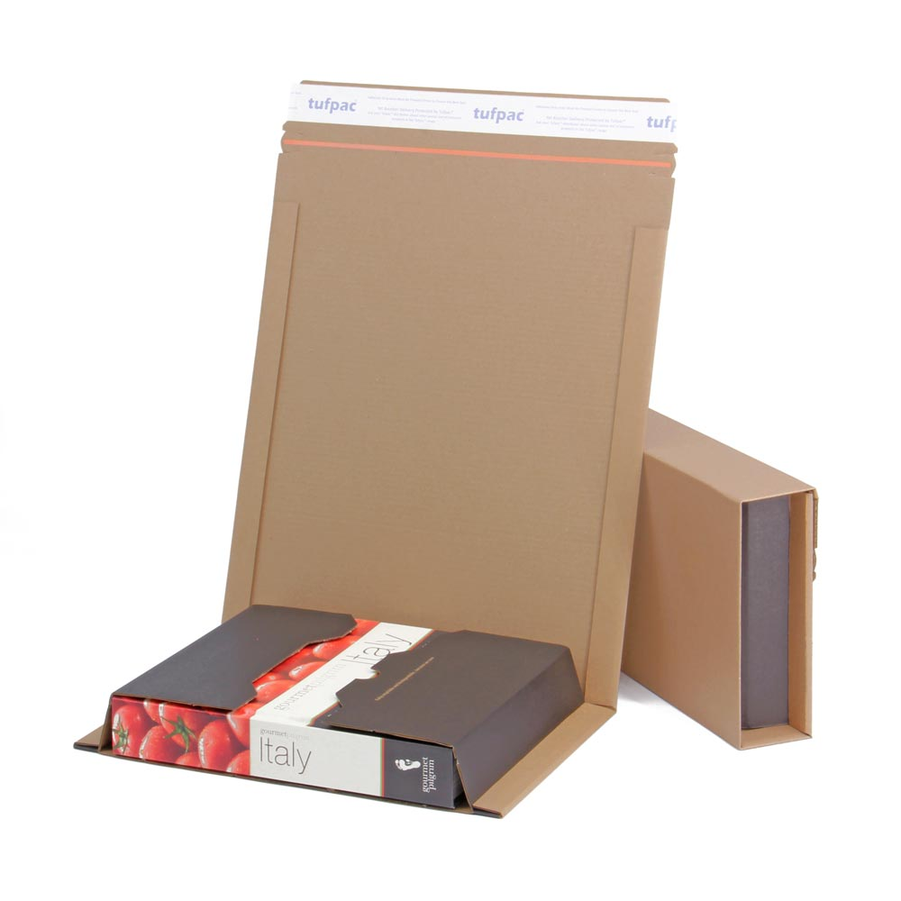 Tufpac® 383mm x 293mm x 0-80mm Brown Book Wrap Mailers (Pack of 20)