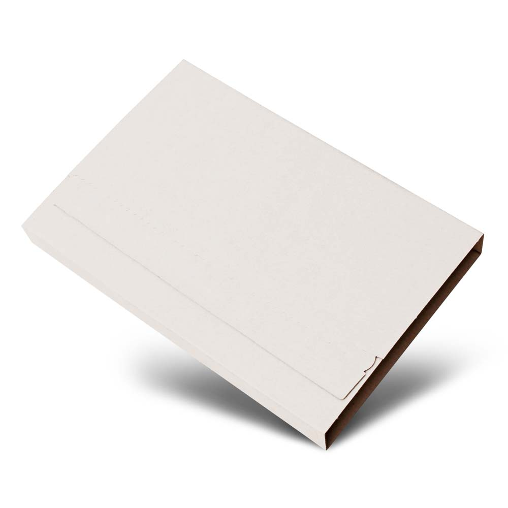Tuftwist® 195 x 140 x 0-80mm White Book Wrap with Peel & Seal (Pack of 50)